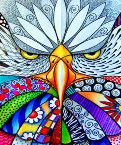 Abstract Mad Eagle Paint by numbers