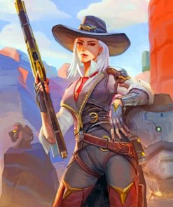 Ashe Overwatch Paint by numbers