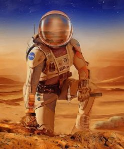 Astronaut On Mars paint by numbers