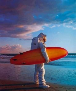 Astronaut On The beach paint by numbers