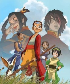 Avatar The Last Airbender Squad Anime Paint by numbers