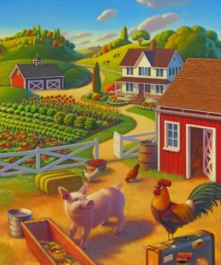Beautiful Farm paint by numbers