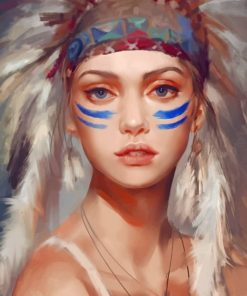 Beautiful Native American Paint by numbers