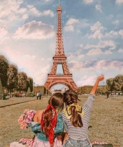Best friends In A Paris paint by numbers