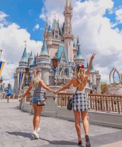 Besties In Disney Castle paint by numbers