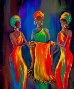 Black African Ladies Paint by numbers