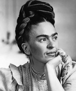 Black And White Frida Kahlo Paint by numbers