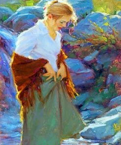 Blond Young Lady paint by numbers