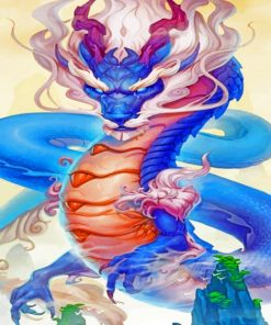 Blue Dragon Paint by numbers