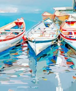 Vintage Boats paint by numbers