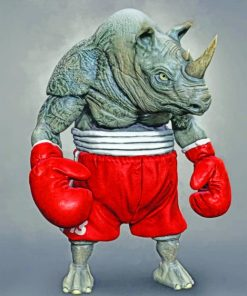 Boxer Rhino paint by numbers