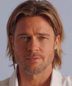Brad Pitt Portrait Paint by numbers