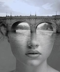 Bridge Woman Paint by numbers