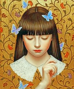 Butterflies Girl Paint by numbers