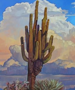 Aesthetic Cactus Plant paint by numbers
