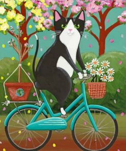 Cat Enjoying The Spring Paint by numbers