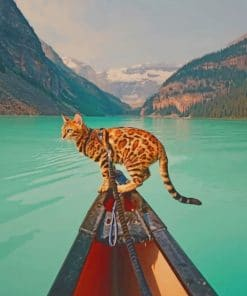 Bengal Cat In Banff National Park Paint by numbers