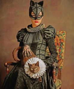Cat Woman From The Elizabeth Age Paint by numbers