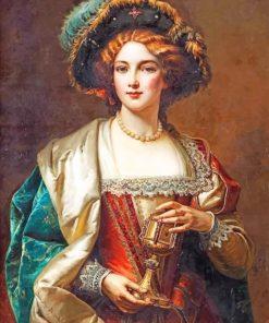 Portrait Of A Noblewoman Cesare Auguste Detti Paint by numbers