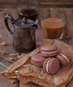 Coffee And Macaroons paint by numbers
