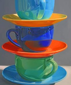 Coffee Cups Paint by numbers