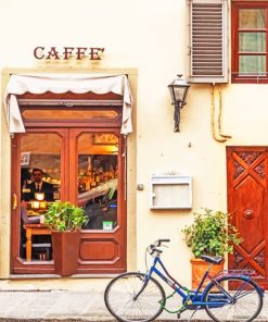 Coffee Shop In Italy Paint by numbers