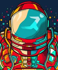 Colorful Astronaut paint by numbers