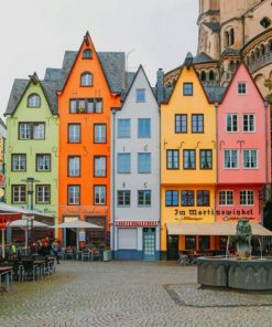 Colorful Buildings In Amsterdam Netherlands paint by numbers