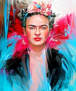 Colorful Frida Kahlo paint by numbers