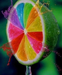 Colorful Lemon Paint by numbers