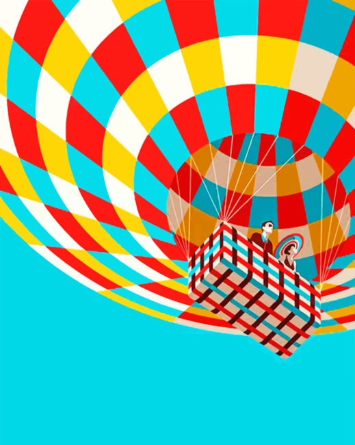 Colorful Hot Air Balloon Paint by numbers