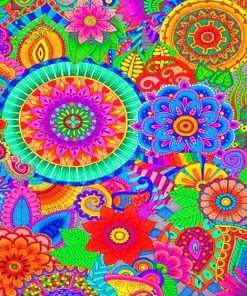 Colorful Mandala paint by numbers