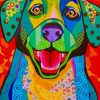 Colorful Puppy Paint by numbers
