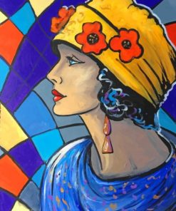 Colorful Woman Paint by numbers