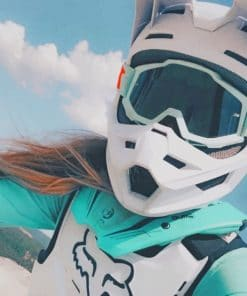 Cool Motocross Girl Paint by numbers