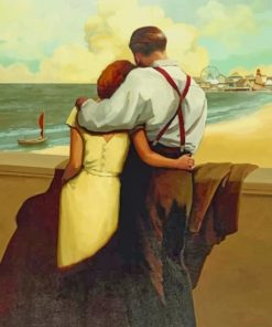 Vintage Couple In Love paint by numbers
