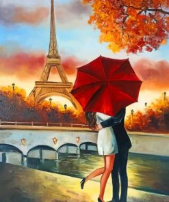 Couple In Paris France Paint by numbers