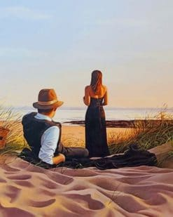 Couple On The Beach paint by numbers