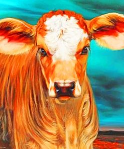 Aesthetic Cow paint by numbers