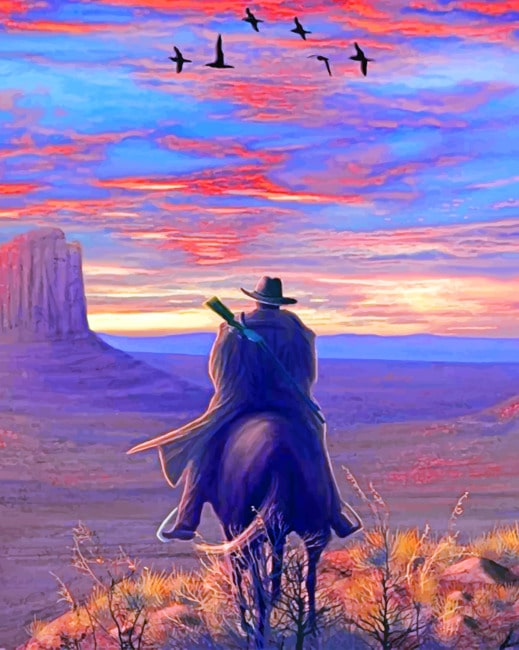 Cowboy paint by numbers