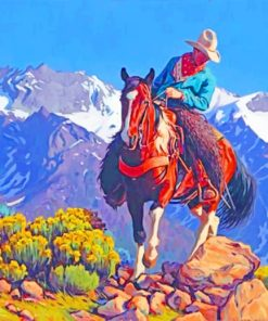 Cowboy western paint by numbers