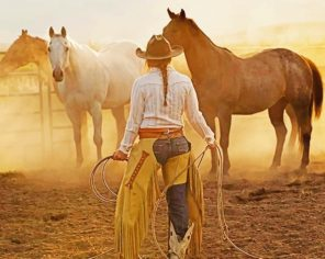 Cowgirl In Chaps paint by numbers