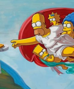 Creation Of The Simpson paint by numbers