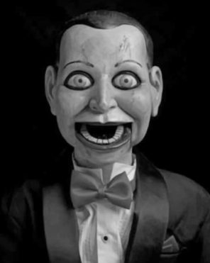Creepy Ventriloquist Dummy paint by numbers