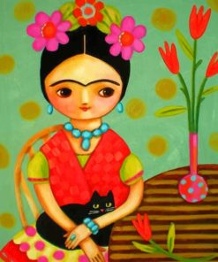 Cute Frida Kahlo Paint by numbers
