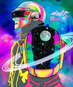 Colorful Daft Punk paint by numbers