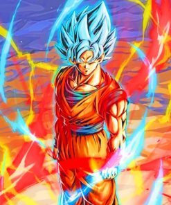 Goku Dragon Ball Paint by numbers