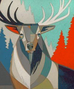Pop Art Elk paint by numbers