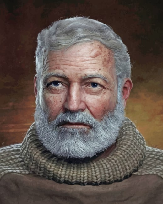 Ernest Hemingway paint by numbers