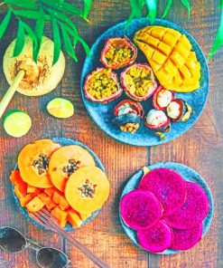 Exotic Fruits paint by numbers